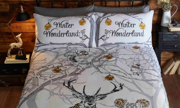 Rapport Home Sketch Winter Wonderland Duvet Set from £14