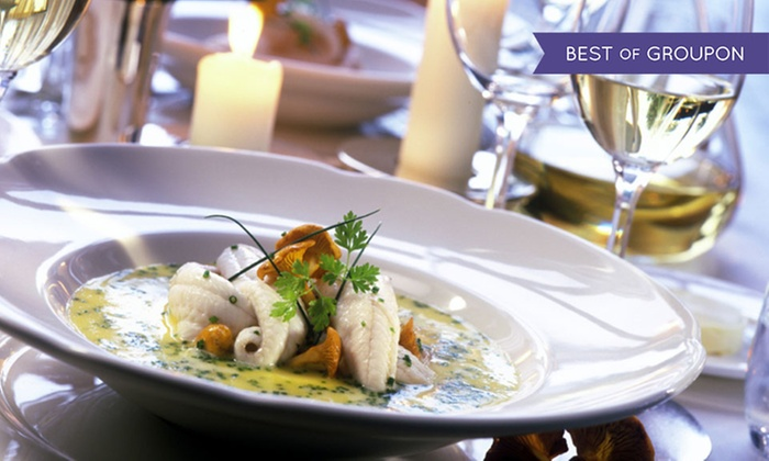 Two-Course Meal with a Glass of Wine Each for Two or Four at The Old Sail Loft Restaurant