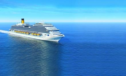 Crucero por el Mediterráneo: 7 noches en camarote interior o exterior con pensión completa en Crucero Costa Smeralda