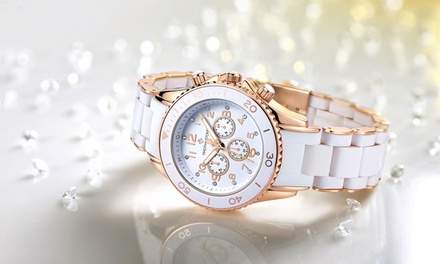 Timothy Stone Watch with Crystals from Swarovski®: One ($29) or Two ($55) (Don't Pay up to $309.84)