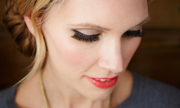ModVellum - Cow Hollow: 50-Lash or 25-Lash Set of Eyelash Extensions at ModVellum (Up to a 59% Value)