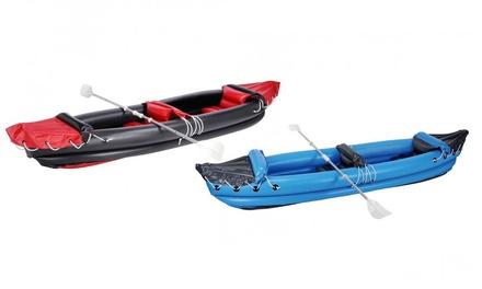 Kayak 2 places gonflable, rouge ou bleu