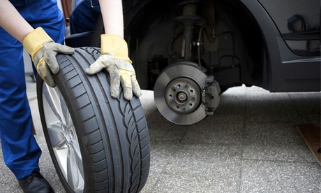Wheel Alignment and Tire Rotation for One or Two Vehicles at Giant Discount Tire (Up to 53% Off)