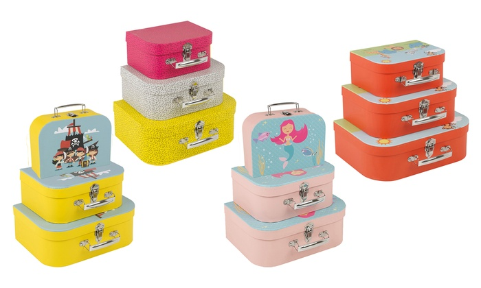 Three-Piece Children Suitcase Set