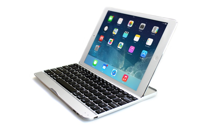 Aluminium Bluetooth Keyboard Case for iPad with Optional Earphones and microUSB Cable
