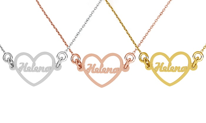 name in heart custom necklace jewellshouse groupon