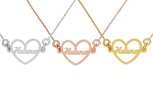 Up to 90% Off Name in Heart Personalized Necklace at Jewellshouse, plus 6.0% Cash Back from Ebates.