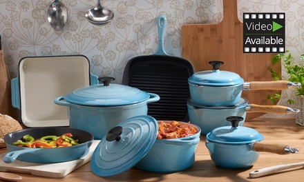 Cooks Professional Three, Five or EightPiece Cast Iron Set With Free Delivery