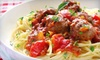 Ciao Bella - Southeastern Baltimore: Italian Cuisine and Drinks for Two or Four at Ciao Bella (50% Off). Four Options Available.