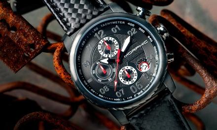 Montre chronographe M38 Morphic, bracelet en cuir, modèles au choix à 79,99€