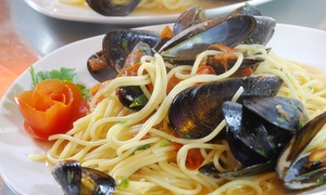 Lido Capo Calavà: Menu di pesce di 4 portate e calice di vino per 2 o 4 persone al Lido Capo Calavà (sconto fino a 74%)