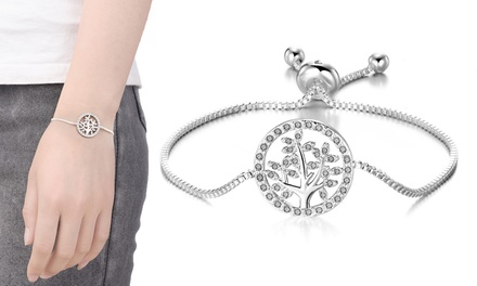 1 o 2 pulseras Philip Jones con árbol de la vida y cristales de Swarovski®