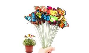 50 ou 100 papillons décoratifs sur bâton