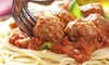 Tim's Pizzeria and Pub - Cuyahoga Falls: $12 for an Italian Pasta Dinner with Salads and Bread for Two at Tim's Pizzeria and Pub ($20 Value)