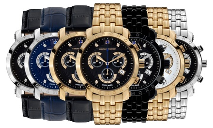 Cronografo svizzero con diamanti