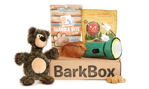 BarkBox: $29 for One Month Dog Goodie Delivery Subscription with Extra Toy Club Membership from BarkBox ($38 Value)