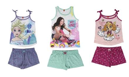 Pigiami estivi Disney per bambine disponibili in vari modelli e taglie