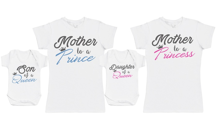 Mother and Baby Matching T-Shirt and Baby Bodysuit