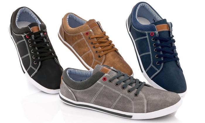 Franco Vanucci Mens' Lace-Up Sneakers