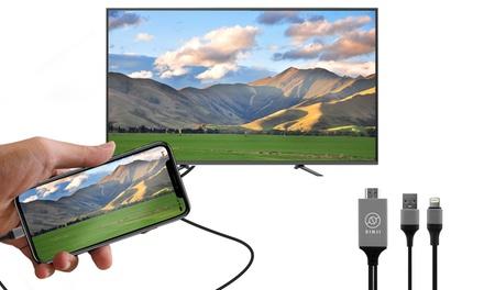 Câble HDMI, transfert de Photo/Vidéo depuis un iPhone/iPad, Samsung vers le téléviseur, compatible Micro USB et Type C