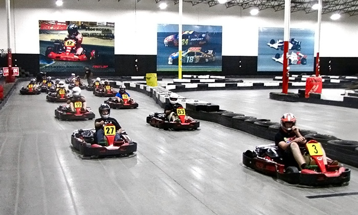 Fast Lap Indoor Kart Racing - Fast Lap Irvive, INC: Two Races with Membership for One, Two, or Four at Fast Lap Indoor Kart Racing (Up to 45% Off)