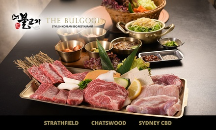 Premium Wagyū Beef Korean Barbecue Set for 2 ($94) or 4 People ($188) at The Bulgogi, 3 Locations (Up to $315 Value)