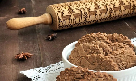 Christmas Embossed Rolling Pin: One Small $15, One Big $19 or Both $29
