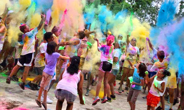 Color Blaze 5K - Terra Haute - Honey Creek: Registration for Two or Four at Color Blaze 5K – Terra Haute on Saturday, October 25 (Up to 58% Off)