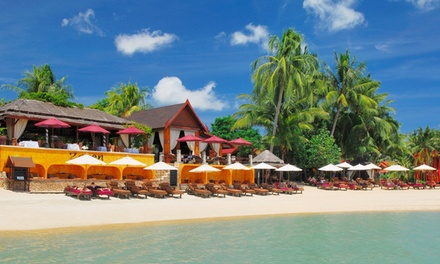 Koh Samui: Up to 7Night Beachfront Stay People with Breakfast and Thai Massage at 4* Zazen Boutique Resort & Spa