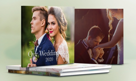 1, 2, 3, 4 o 5 foto-álbumes para bodas con tapa de cuero con Printerpix (hasta 56% de descuento)