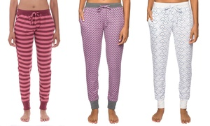 Noble Mount Waffle Knit Jogger Lounge Pants with Pockets