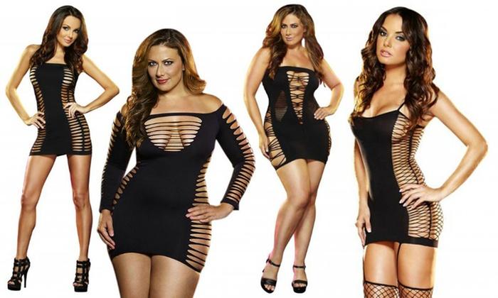 Lapdance Clubwear Black Mini Dresses In Regular And Plus Sizes Groupon