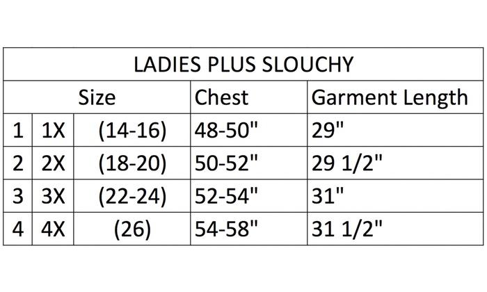 3cbf244ea3b Women s Humorous Slouchy. Plus Sizes Available.