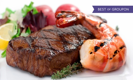 Brazilian Surf 'n' Turf Lunch or Dinner  for Two at Pampas Brazilian Grille (Up to 42% Off)