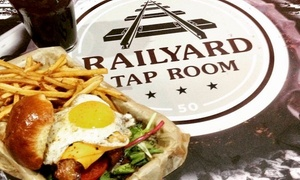 50% Off Food and Drinks at Railyard Grill & Tap Room at Railyard Grill & Tap Room, plus 6.0% Cash Back from Ebates.