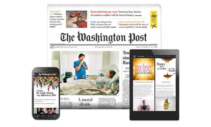image for $39 for One Year of The Washington Post Sunday Print Delivery Plus Free Online Access ($138 Value)