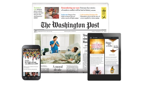 $39 for One Year of The Washington Post Sunday Print Delivery Plus Free Online Access ($138 Value)