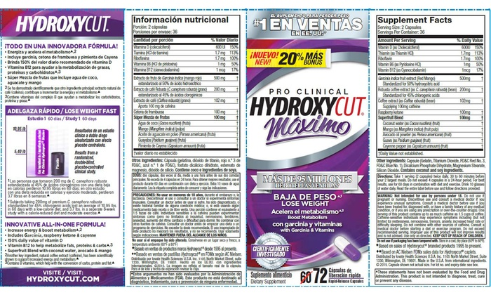how to take hydroxycut maximo