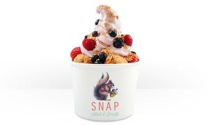SNAP Natural Fast Food: Großes Frozen Yogurt mit 3 Toppings nach Wahl bei SNAP Natural Fast Food (bis zu 53% sparen*)