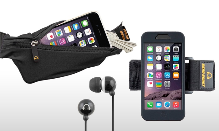 info for f518a 5a2be Gear Beast Armband, Running Belt, and Earbuds for iPhone 6 | Groupon