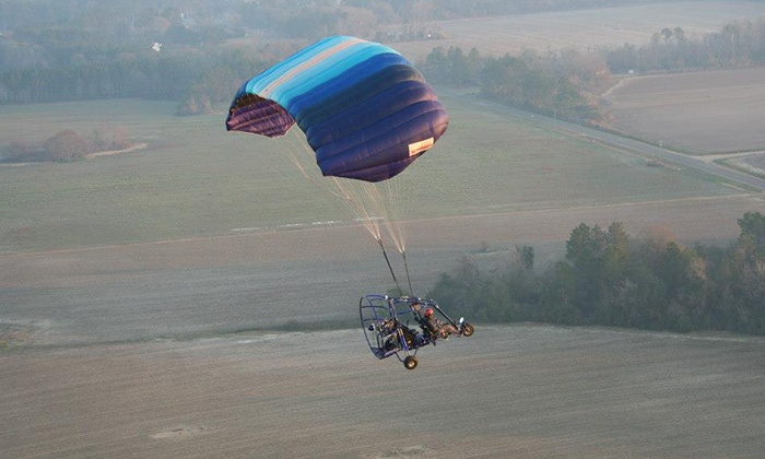 Peach State Powered Parachutes -  Moultrie Municipal Airport : $95 for a 30-Minute Introductory Flight from Peach State Powered Parachutes ($195 Value)