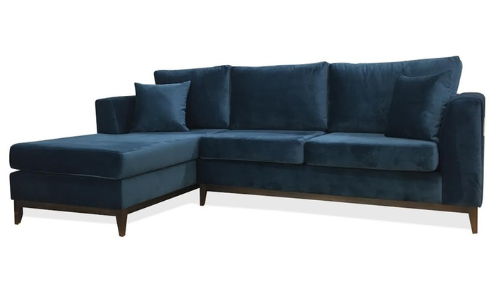 Amigo 3 seater chaise corner sofa groupon goods for 3 seater sofa with chaise