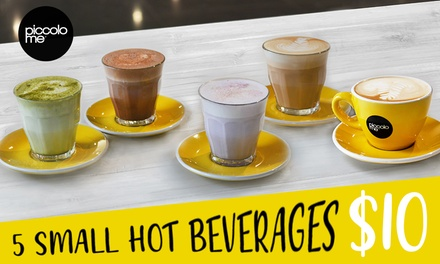 5 ($10) or 10 Hot Beverages ($20) at Piccolo Me, Multiple Locations