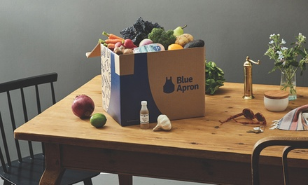 Delivered Meals for Two or for a Family, with Shipping from Blue Apron (Up to 52% Off)