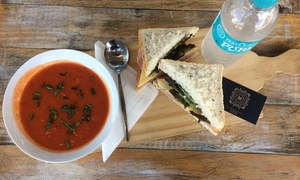 Millstream Kitchen: Soup or Salad with Fresh Sandwich ($6) or ($7) to Include Bottled Water at Millstream Kitchen (Up to $14.80 Value)