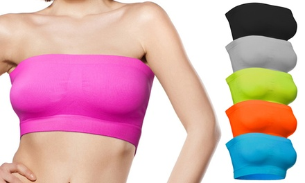 Pack da 3 o 6 reggiseni a fascia Push Up Freenord disponibili in varie taglie e colori
