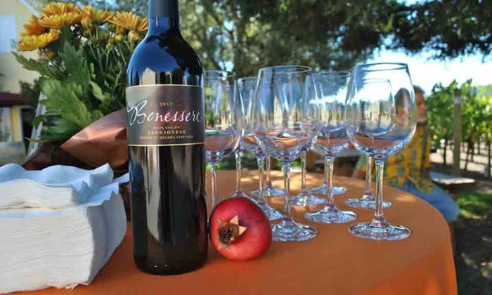 Benessere Vineyards - Saint Helena: Wine Tasting and Bottle of Wine for Two or Four at Benessere Vineyards (44% Off)