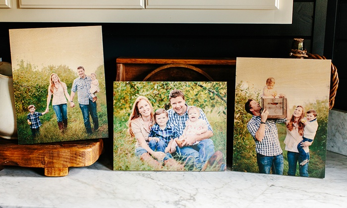 PhotoBarn.com: 3 Custom Wood Photoboards from PhotoBarn (Up to 67% Off). Three Sizes Available.