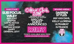 Red Shark Promotions Ltd: Colour Clash with Sub Focus, Redlight and Wiley, 14 July at Tredegar Park (Up to 20% Off)