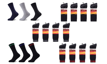 12 or 24 Pairs of Men's Thermal Socks